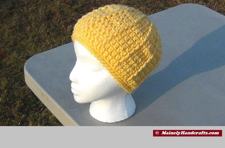 Womens Beanie Warm Yellow